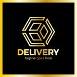 Delivery Box Arrow Logotype. Colorful gradient style. Delivery Box Arrow Logotype. Colorful gradient style royalty free illustration