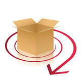 Delivery box illustration Stock Photo