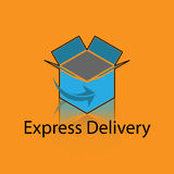 Delivery Box Logo Royalty Free Stock Image