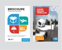Free Delivery Box On A Hand Brochure Flyer Design Template Royalty Free Stock Photography - 114870477