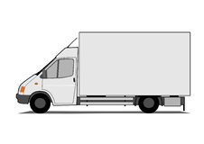 Delivery box van Stock Images