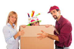 Delivery boy Royalty Free Stock Images