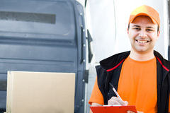 Delivery boy Stock Images