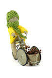 Delivery boy burlap crafts Stock Photo