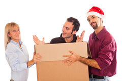 Delivery Boy for Christmas Stock Photo