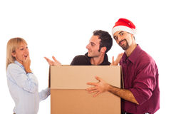 Delivery Boy for Christmas Royalty Free Stock Image