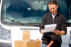 Delivery Boy stock image