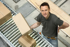 Delivery Boy. Delivery guy handling your recent online order Stock Photography