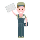 Delivery boy postman Stock Images