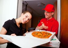 Pizza Delivery Service stock images