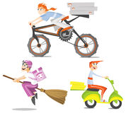 Delivery boys Royalty Free Stock Images