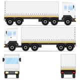 delivery Camion de cargaison Un grand camion de différentes directions Images libres de droits