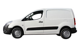 Delivery car. Isolated on white Royalty Free Stock Photography