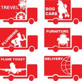 Delivery Car Royalty Free Stock Images