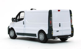 Delivery car. White delivery van isolated on white Royalty Free Stock Images