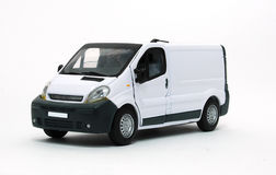 Delivery car. White delivery van isolated on white Royalty Free Stock Photography
