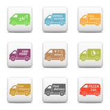 Delivery car icons Stock Image