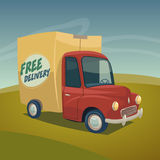 Delivery car illustration Royalty Free Stock Photography