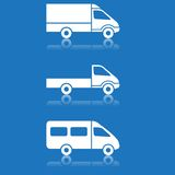 Delivery car, shipping vector buttons set Stock Images