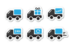 Delivery car, shipping  icons set Royalty Free Stock Images
