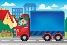 Delivery car theme image 3 Royalty Free Stock Photo