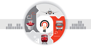 Delivery cargo. E-commerce. Logistics icons royalty free illustration