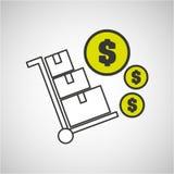 Delivery cargo economy money Stock Image