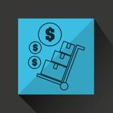 Delivery cargo economy money Stock Images