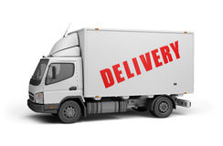 Delivery of cargo. Delivery of goods to the consumer. 3d image. White background Royalty Free Stock Photos