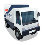 Delivery Cargo Truck Graphic on White Background Royalty Free Stock Photography