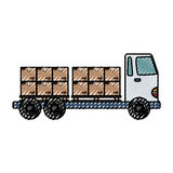 Delivery cargo truck Royalty Free Stock Photography