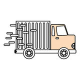 Delivery cargo truck Stock Photos