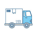 Delivery cargo truck Stock Photo