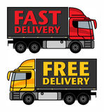 Delivery, Cargo Truck Stock Image