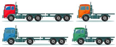 Delivery cargo truck, vector illustration Royalty Free Stock Photos