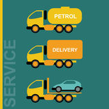 Delivery Cars. Petrol transportation truck Stock Photos