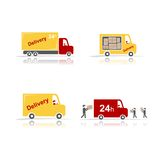 Delivery cars, set for your design Stock Photography
