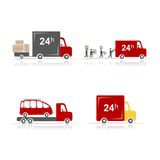 Delivery cars, set for your design Royalty Free Stock Images