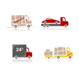Delivery cars, set for your design Royalty Free Stock Photo