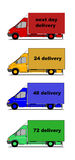 Delivery cars silhouettes Royalty Free Stock Photos