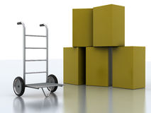 Delivery cart Stock Photos