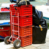 Delivery cart Royalty Free Stock Photos