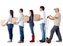 Delivery chain Royalty Free Stock Image