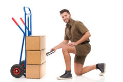 Delivery checking Stock Images