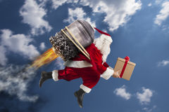 Delivery of Christmas gifts Stock Photos