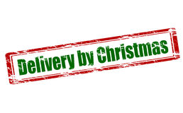 Delivery by Christmas Stock Photography