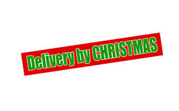 Delivery by Christmas Royalty Free Stock Photography