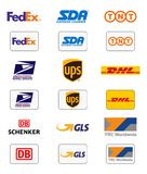 Delivery companies logos Royalty Free Stock Image