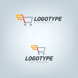 Delivery company logo Royalty Free Stock Photography