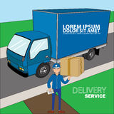 Delivery Concept to home. Royalty Free Stock Image